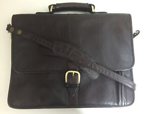 Hidesign Radley Brown Leather Messenger Cross Body Bag Satchel