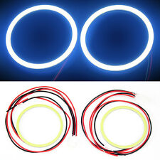 2x 80MM COB LED Angel Eyes Halo Ring Bulb Car Fog light Lamps White Color