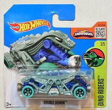 HOT WHEELS 2016 HW DINO RIDERS #3/5 DOUBLE DEMON SHORT CARD