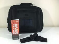 "V Dimension Solar Corporate Travel Case 15"" Laptop Bag Solar Charge Phone MP3"