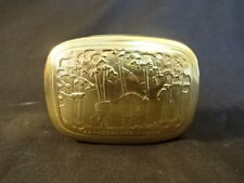 Old Russian Collectable Tin Soak Box Buffalo Tree Design Russia