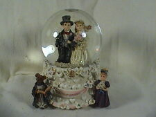 Boyds Bears Musical Wedding Scene Water Globe #272053 Plays Loves A Many Spledor