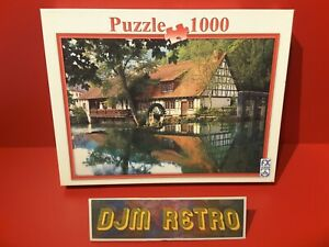 FX SCHMID.....THE WATERMILL 1000 Piece Jigsaw Puzzle USED & COMPLETE