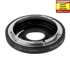 Anillo adaptador lente Canon FD a Sony Alpha SAL Minolta MA AF A77 A99 A550 A900