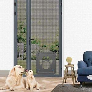New Pet Screen Door Dog Door For Sliding Door, Sliding Doggy Door Insert New
