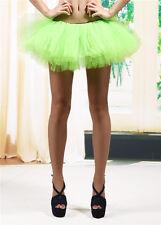 Adult Women Tutu Tulle Skirt Petticoat Dance Rave Neon Party Costume 5 Layers