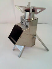 Stainless Steel Rocket Stove Survival Tailgate Camping Extra $$$ Grill Lantern