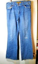 Size 12 (34 X 31) Seven for All Mankind  Bootcut Denim Jeans Distressed