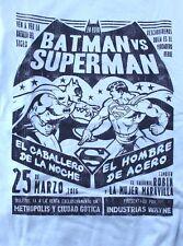 DC LEGION OF COLLECTORS SET BATMAN vs SUPERMAN Tshirt (XL) LIGHT BLUE