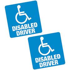 """2 x disabled driver blue badge 6"""" 150mm sq vinyle autocollant voiture van home motability"""