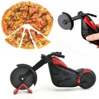 Stainless Steel Motorcycle Pizza Cutter Pizza Cake Roller Slicer Kitchen