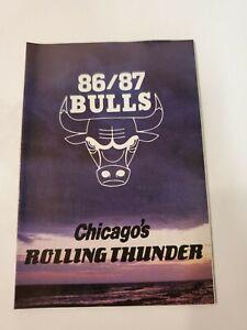 1986-87 CHICAGO BULLS Pocket Schedule NBA Budweiser (lower-mid grade)