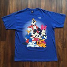 VTG 90s Disney Mickey Mouse T-Shirt Mens Large Minnie Goofy Streetwear Blue