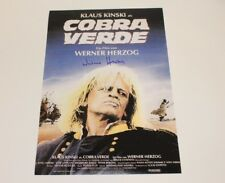 DIRECTOR WERNER HERZOG SIGNED 'COBRA VERDE' 12x18 MOVIE POSTER w/COA PROOF