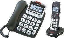 Emporia GD61ABB Festnetz-Telefon Analog Telefon SET intgrAB, Großtasten Senioren