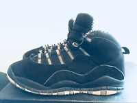 2011 Youth Nike Air Jordan X 10 Stealth Black Suede White Size 6Y Used Rare