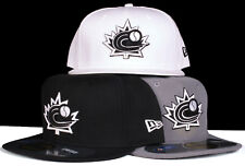 World Baseball Classic Team Canada 59Fifty New Era Fitted Hat - Black White Grey