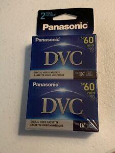 Panasonic DVC 60 (Mini DV) Digital Video Cassettes, Set of 2, (AY-DVM60EJ2), New