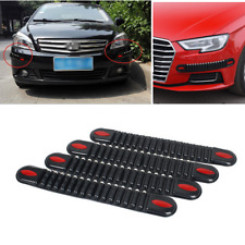 4PC Rear Bumper Guard Edge Anti Scratch Black Rubber Protector Strip For Car SUV