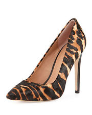 Halston Heritage Shirley Leopard-Print Calf Hair Stiletto Pumps Sz 9 $395 NEW