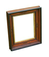 """Walnut Victorian Pict. Frame/Gilt Decoration, fits 8"""" X 10"""", with old wavy glass"""