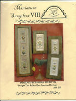 Miniature Samplers Love Peace Trust Sampler Cross Stitch Pattern Chart Pak