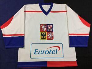 Olympics Team Czech Republic Dominik Hašek #39 Hockey Alea Jersey SizeXL