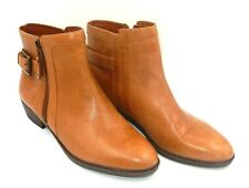 RALPH LAUREN WOMEN'S LEATHER CHELSEA BOOTS SIDE ZIP - SIZE: 8