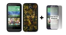 HTC Desire 510 Rubberized Hybrid Phone Case + Screen Protector Camouflage
