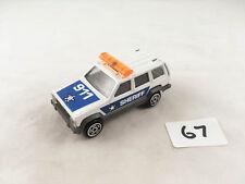 VINTAGE MAJORETTE FRANCE # 224 JEEP CHEROKEE SHERIFF POLICE CAR DIECAST