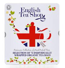 English Tea Shop Organic Union Jack Gift Tin Tea bags, Pack of 72