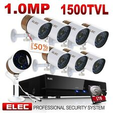 ELEC 8CH 960H HDMI DVR 1500TVL Outdoor CCTV Home Security Camera System 1TB HDD
