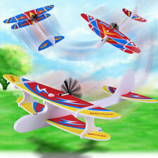 Hand Throw Rechargeable Airplane Aircraft Launch Glider Plane Kids Toys Gift USB