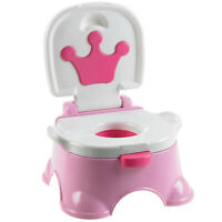 Pink 3 in 1 Baby Kid Training Toilet Music Seat Potty Chair Trainer Bathroom UK