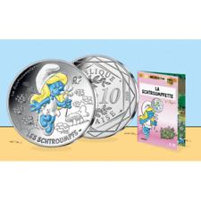 10 Euros Argent 2020 '' Collection Schtroumpf '' Colorée 5/20