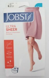 Jobst Large 20-30 mmHg Black Ultra Sheer Compression Socks 119732 Knee High