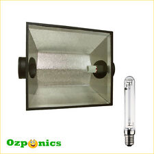 2x The Hood 8 Air Hydroponics Cooled Reflector Shade With HPS Grow Light