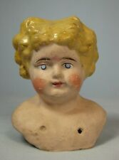 Antique Paper Mache Blonde Doll Head