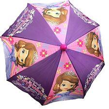 """New Arrive Disney Princess Sofia Umbrella 22""""-3D Handle-Purple"""