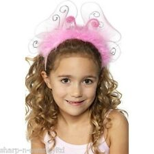 Girls Pink Light Up Fairy Butterfly Headband Fancy Dress Costume Accessory Kit