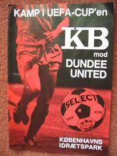 KB COPENHAGEN v DUNDEE UNITED 77-78 UEFA CUP