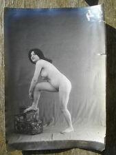 PHOTO ARGENTIQUE NU ACADEMIQUE EROTISME CURIOSA ca 1900  ( N° IX )