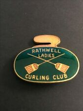 New listing VINTAGE CURLING PIN RATHWELL LADIES CURLING CLUB (Birks written on back)