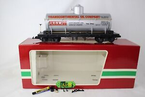 LGB G SCALE #4080-Y01 TRANSCONTINENTAL OIL CO SINGLE DOME TANK CAR, NICE, BOXED