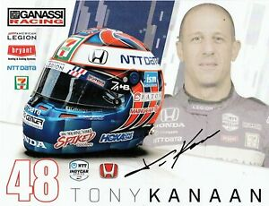 2021 TONY KANAAN SIGNED INDIANAPOLIS INDY 500 CAR PROMO CARD