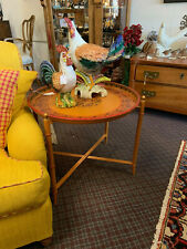 Orange Tray Side Table