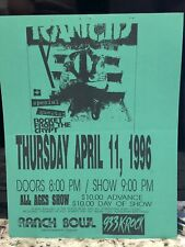 Original Rancid 1996 Omaha Concert Tour Poster - Ranch Bowl Punk