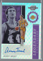 JERRY WEST 2019-20 PANINI CONTENDERS OPTIC LEGENDARY SILVER PRIZM AUTO #/49