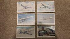 Set of 6 vintage postcards of various Aeroplanes published by J Salmon Ltd.