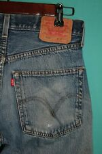 Destroyed Levis 501 Jeans Button Fly Distressed Vintage 30x33